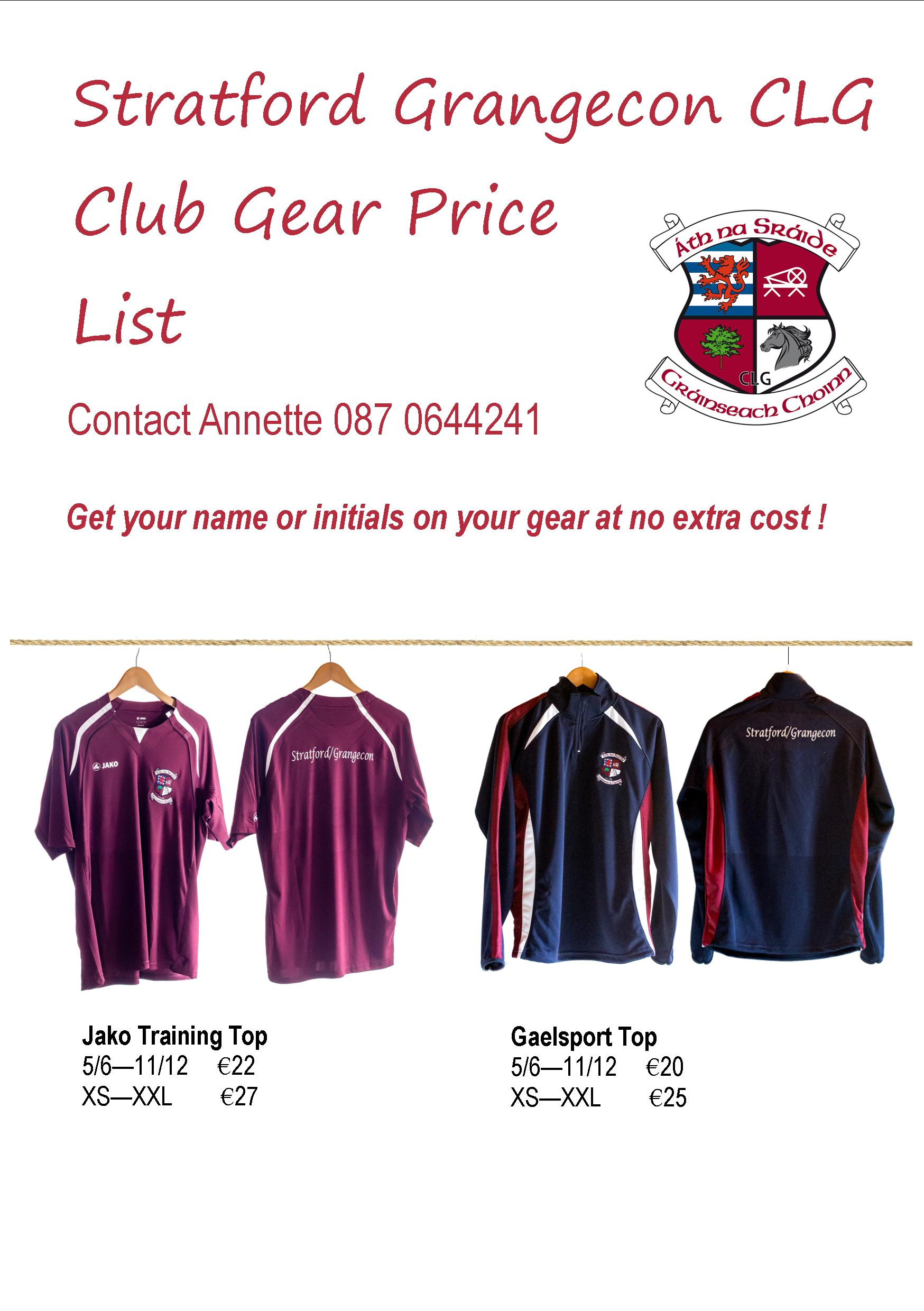 GAA Gear brochure page 1