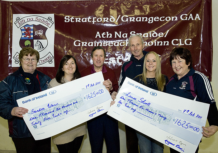 Sandra Evans & Laura Shortt - joint winners of €3,250 (each received €1,6250)
