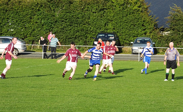 Nigel O'Neill sets up an attack for Stratford Grangecon