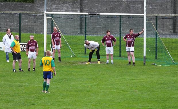 Ultan Rooney organsises his defence