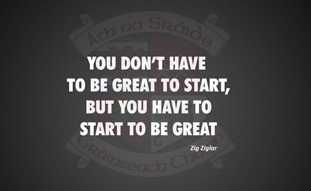 You have to start!
